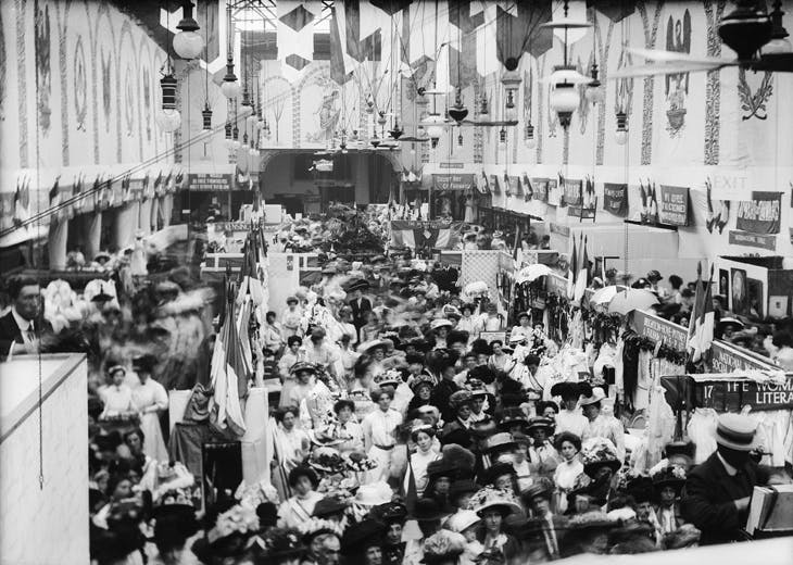 The Women's Exhibition & Sale of Colours, Prince's Skating Rink, Knightsbridge, May 1909.