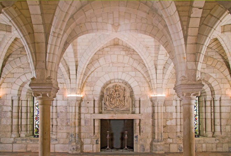 View of the Chapter House of the Benedictine Priory of Saint John at Le Bas-Nueil, 1150–90, France, Worcester Art Museum, Massachusetts