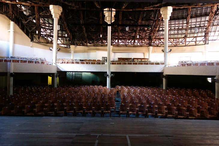The auditorium, or 'audience hall' of the Kandy Arts Centre, in January 2018
