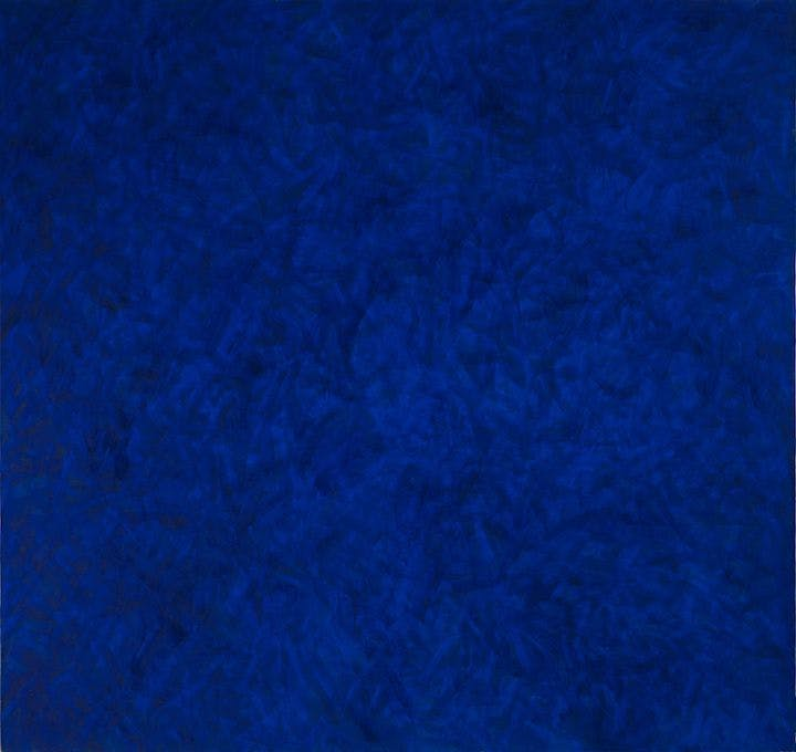 Transparent Painting: Ultramarine Blue (1982), Marcia Hafif. © Marcia Hafif Photo: Prallan Allsten/Moderna Museet