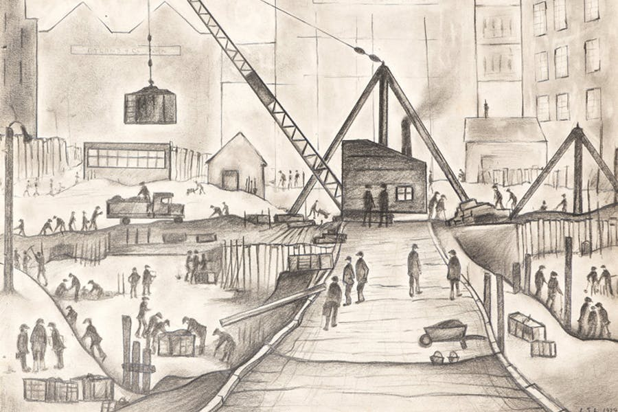 Rebuilding of Rylands, Manchester, L.S. Lowry