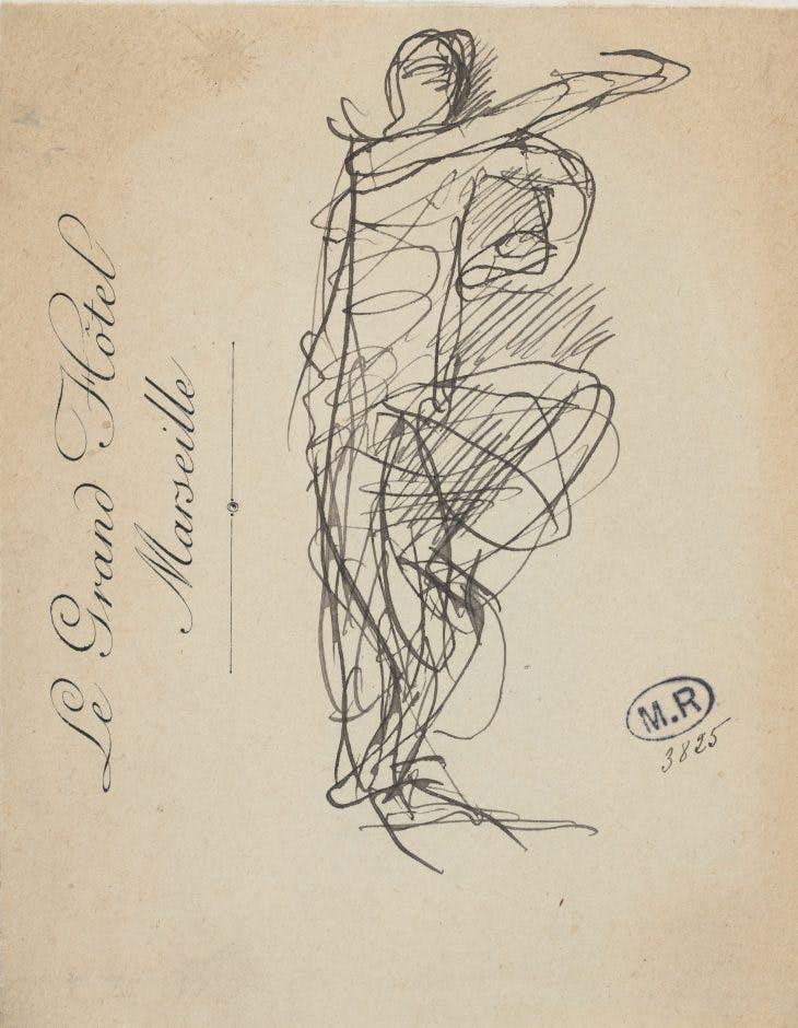Cambodian dancer, Auguste Rodin