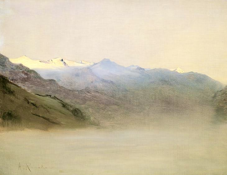 Gastein Valley in the Mist, Anton Romako