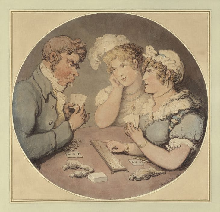 A Game of Cribbage, Thomas Rowlandson
