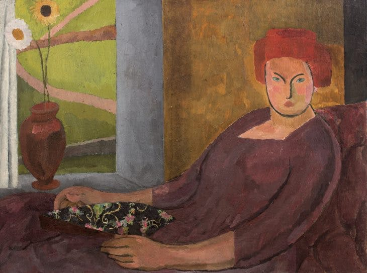Woman in a Red Hat, Vanessa Bell