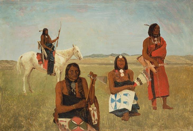 Indians near Fort Laramie, Albert Bierstadt