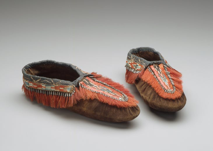 Moccasins, Native American (probably Huron)