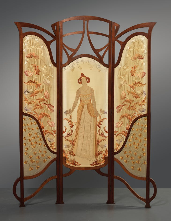 Flower Queen, threefold room divider, Carel Wirtz