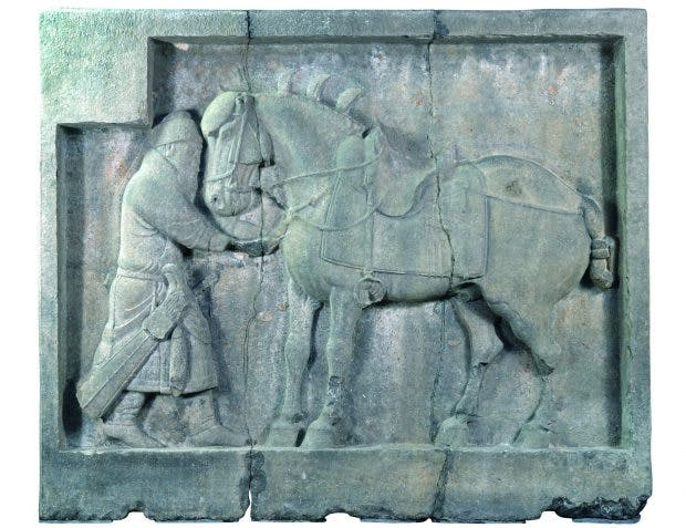 One of six reliefs commissioned by the Emperor Taizong, China, Tang Dynasty (618–906 AD), University of Pennsylvania Museum of Archaeology and Anthropology, Philadelphia, Photo: courtesy Penn Museum and Dorling Kindersley