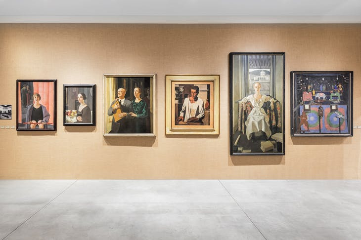 Installation view of 'Post Zang Tumb Tuum. Art Life Politics: Italia 1918–1943' at the Fondazione Prada, Milan, 2018.