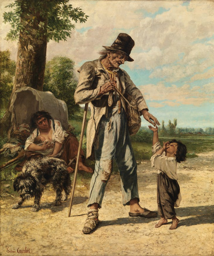 Charity of a Beggar at Ornans, Gustave Courbet