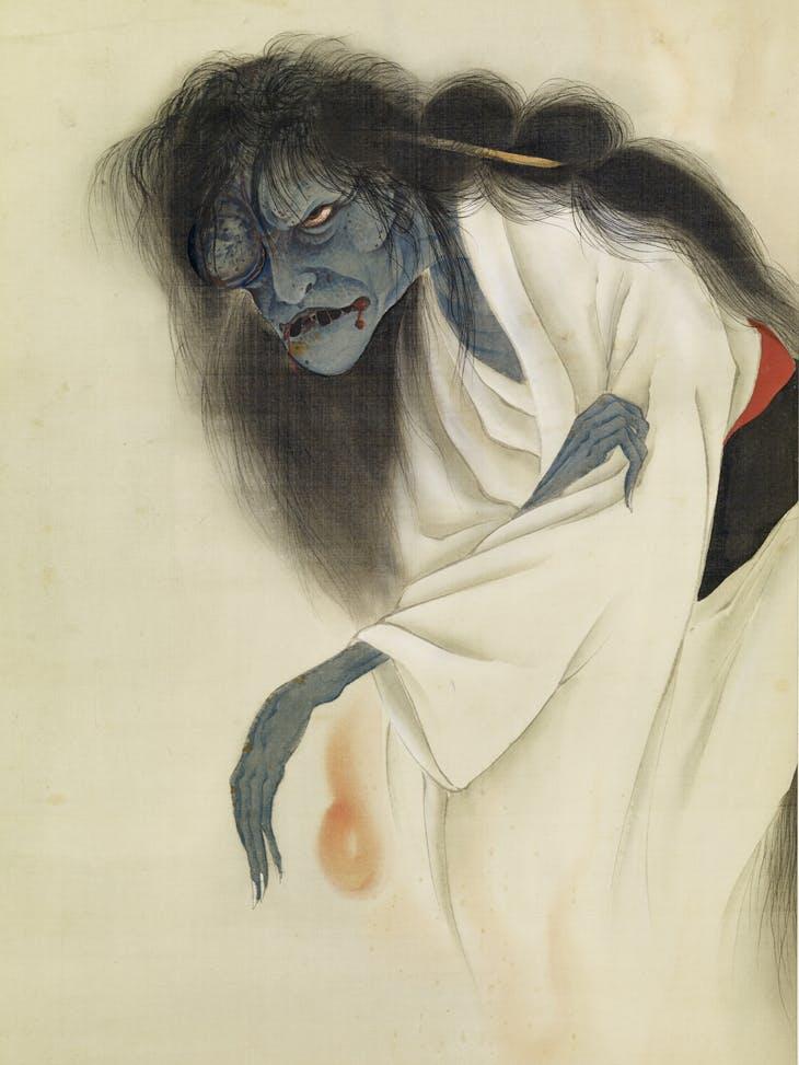 The Phantom of Oiwa, signed Ikkyo