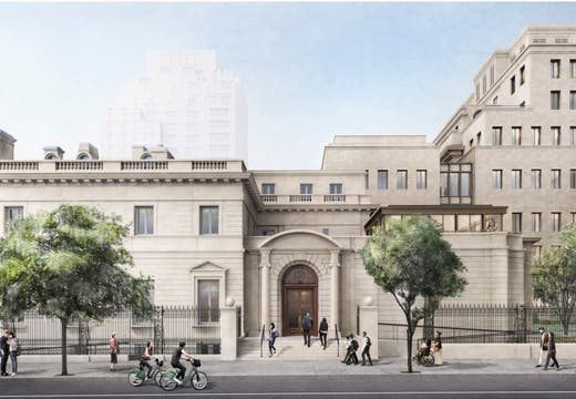 Rendering of the expanded Frick Collection from 70th Street.