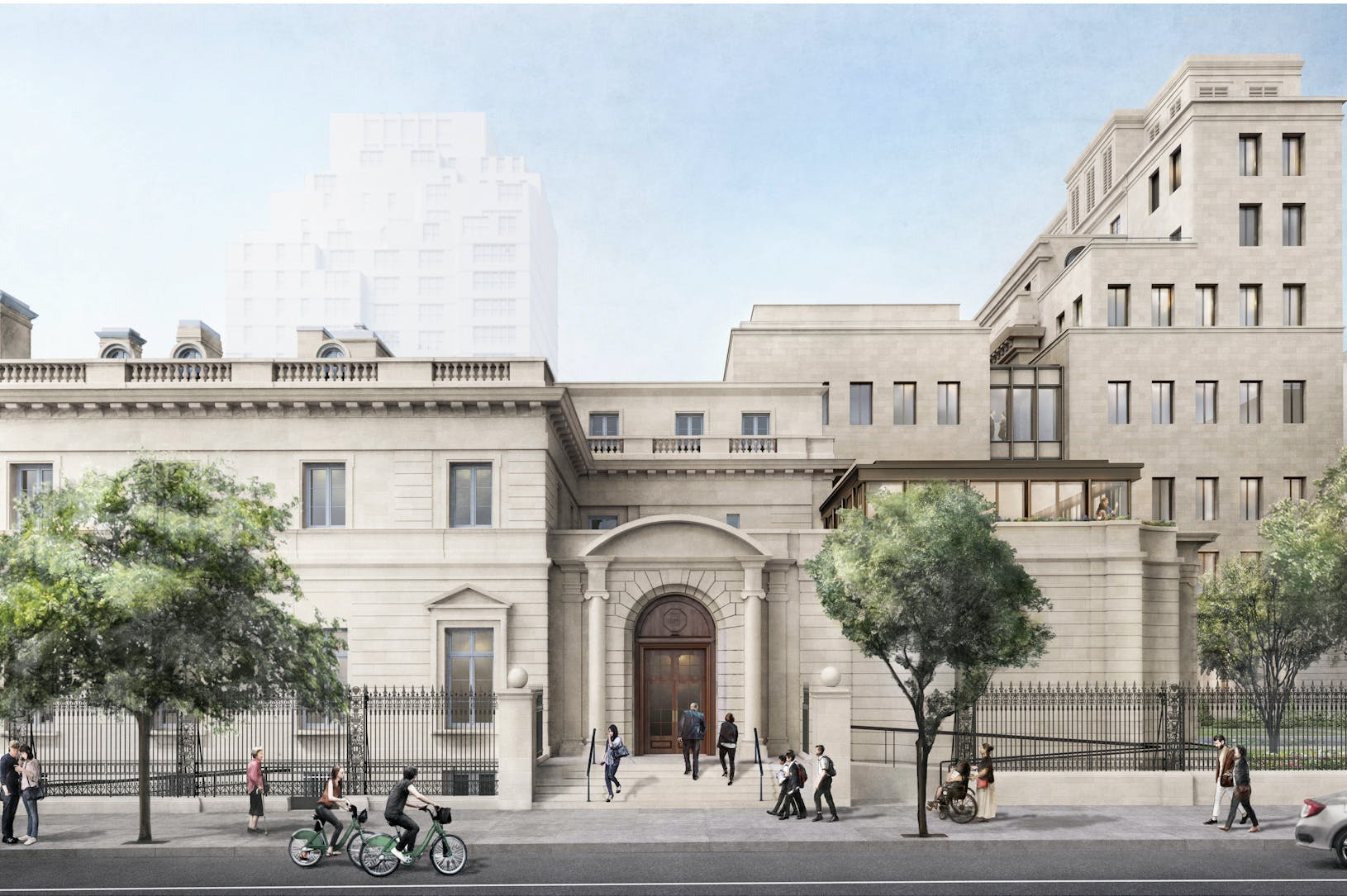 Rendering of The Frick Collection from 70th Street; Courtesy of Selldorf Architects