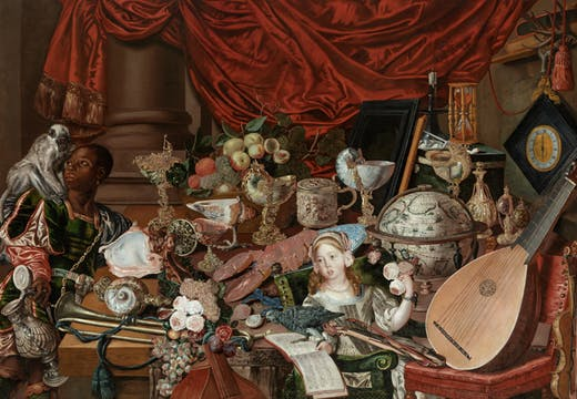 The Paston Treasure (c. 1663), unknown artist (Dutch School). Norwich Castle Museum & Art Gallery, Norwich, UK.