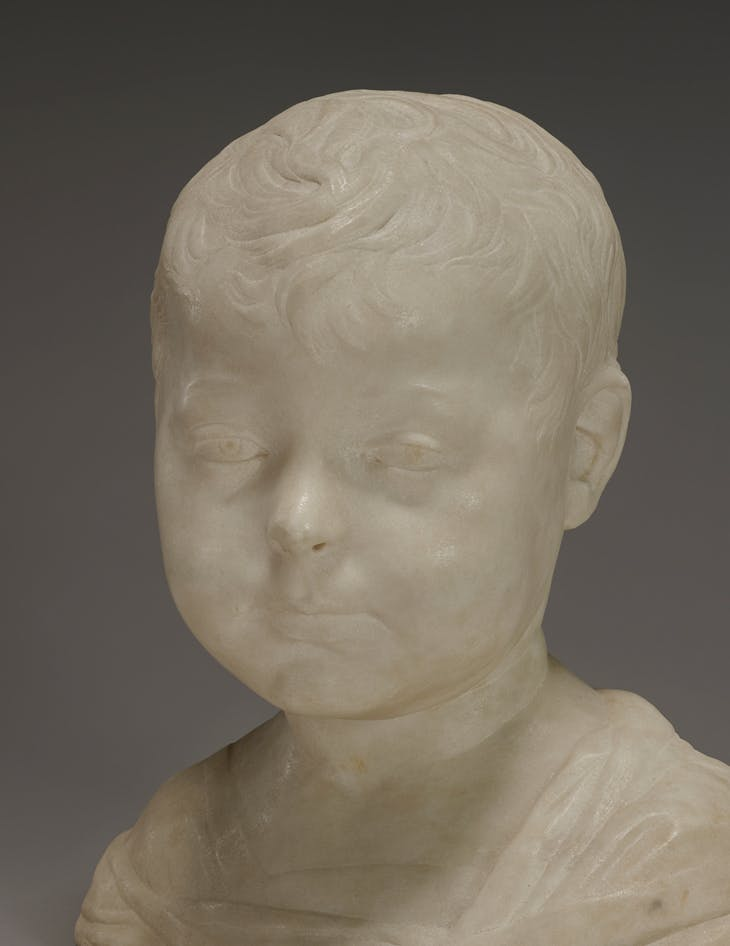 Detail of Bust of a Young Boy, Desiderio da Settignano