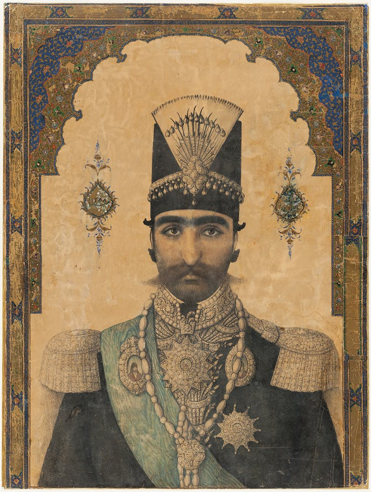 Early Portrait of Nasir al-Din Shah, Iran