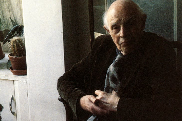 Edward Bawden (1903–89) photographed in 1989.