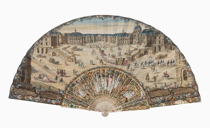 Fan with a View of the Château de Versailles