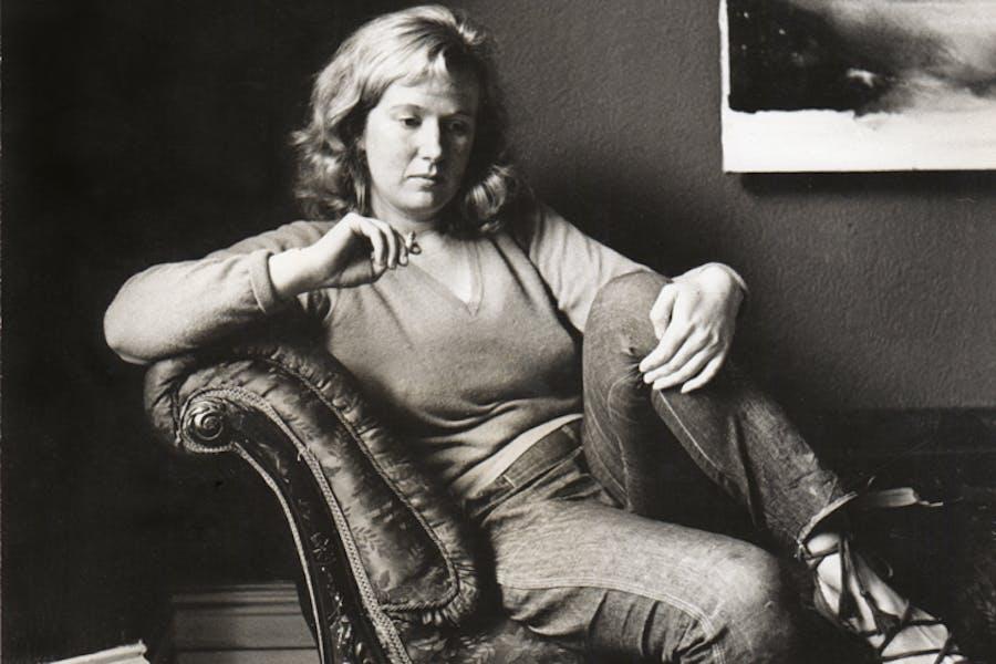 Gillian Ayres at home in Barnes, London, in 1961.
