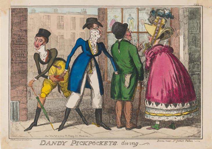 Dandy Pickpockets, Diving, Isaac Robert Cruikshank