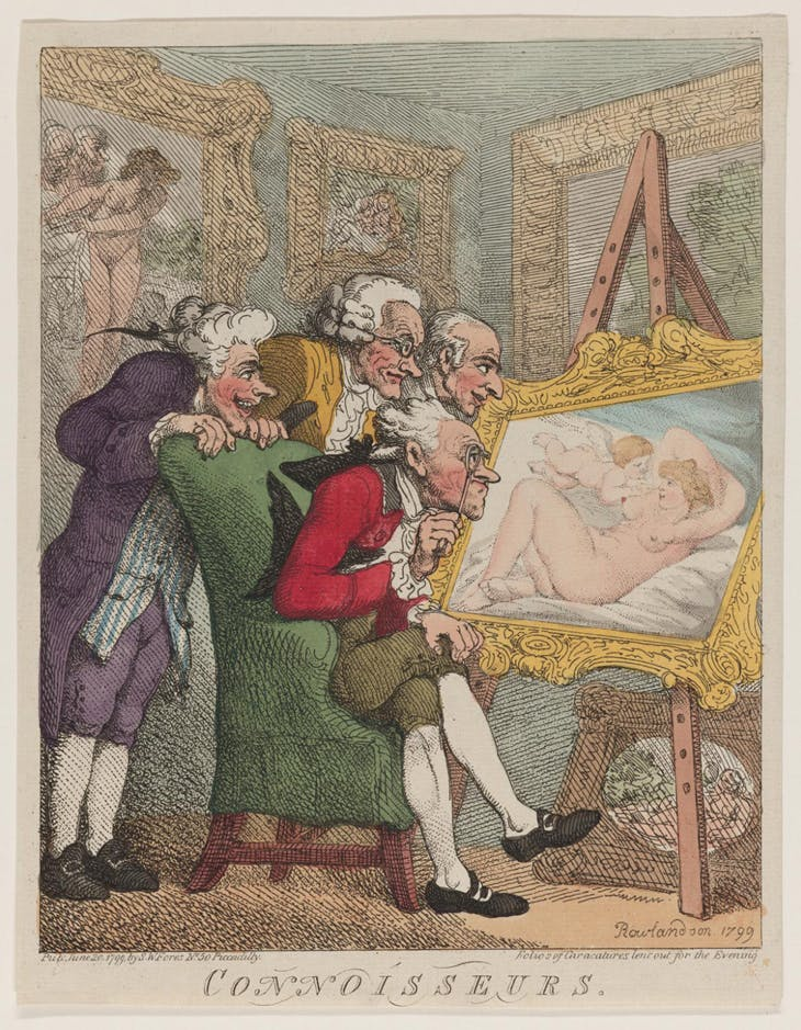 Connoisseurs, Thomas Rowlandson