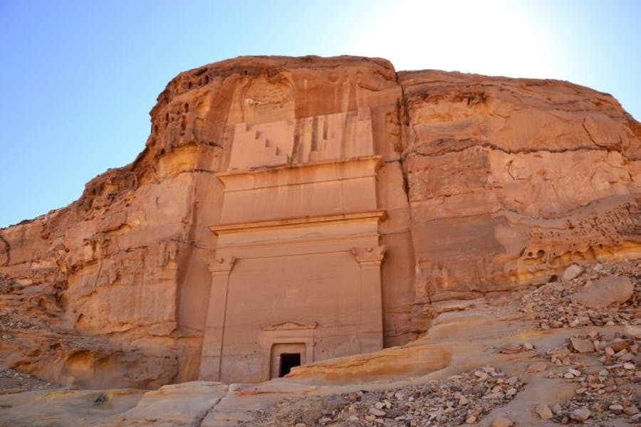 A Nabataean tomb in Madain Saleh, Saudi Arabia, wikimedia commons