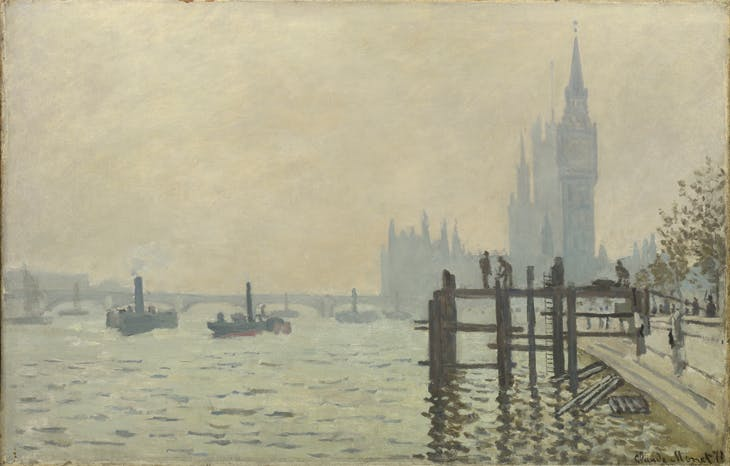 The Thames below Westminster, Claude Monet