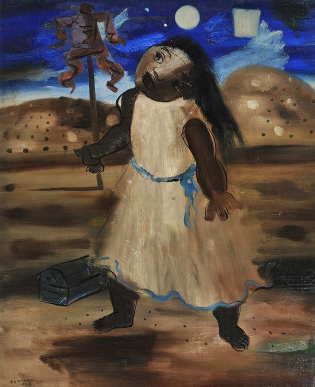 The Scarecrow (The Half-Wit), (1940), Candido Portinari, The Mercer Art Gallery