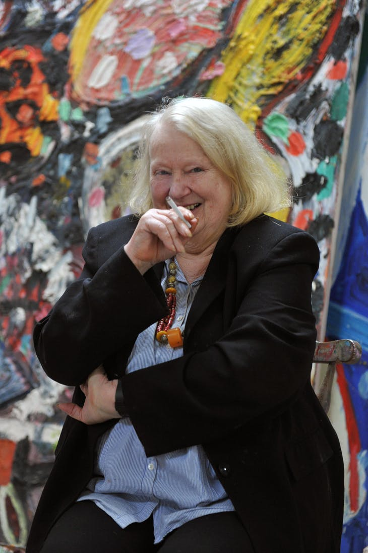 Gillian Ayres at home on the Cornwall/North Devon border, 2009.