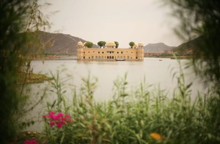 The Jal Mahal palace on Man Sagar lake, photographed in 2010.
