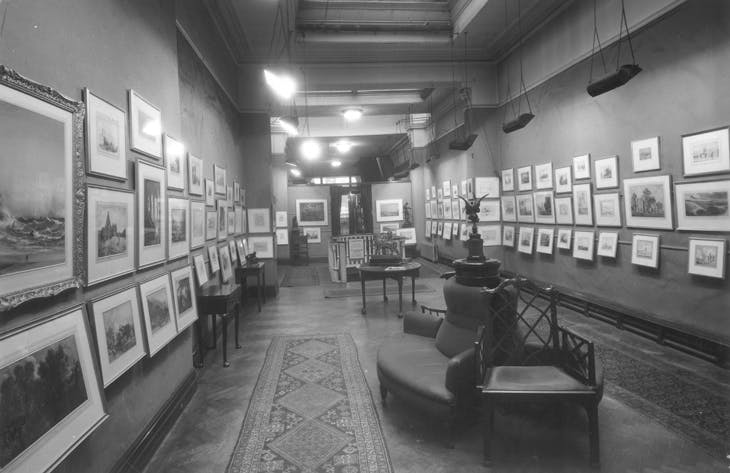 A pre-war hang of prints and drawings at the Fine Art Society