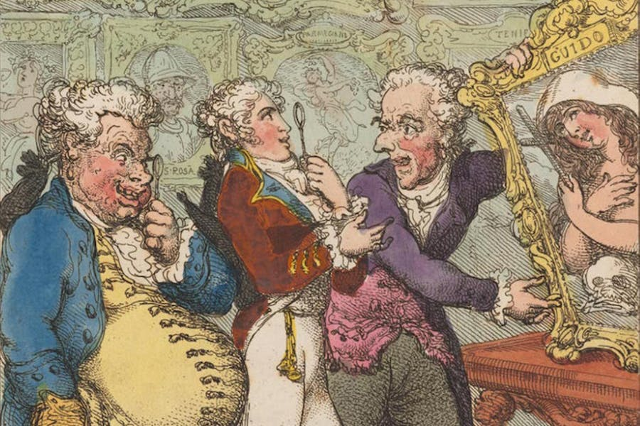 Italian Picture Dealers Humbuging My Lord Anglaise, Thomas Rowlandson