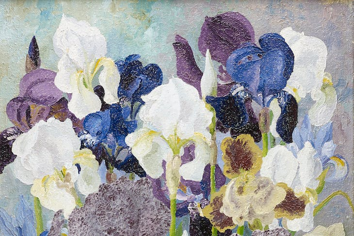 May Flowering Irises No. 2, detail, Sir Cedric Morris