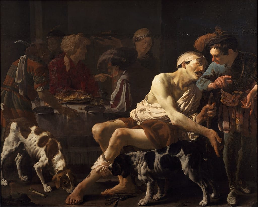 The Rich Man and the Poor Lazarus, (1625) Hendrick ter brugghen, Centraal Museum, Utrecht