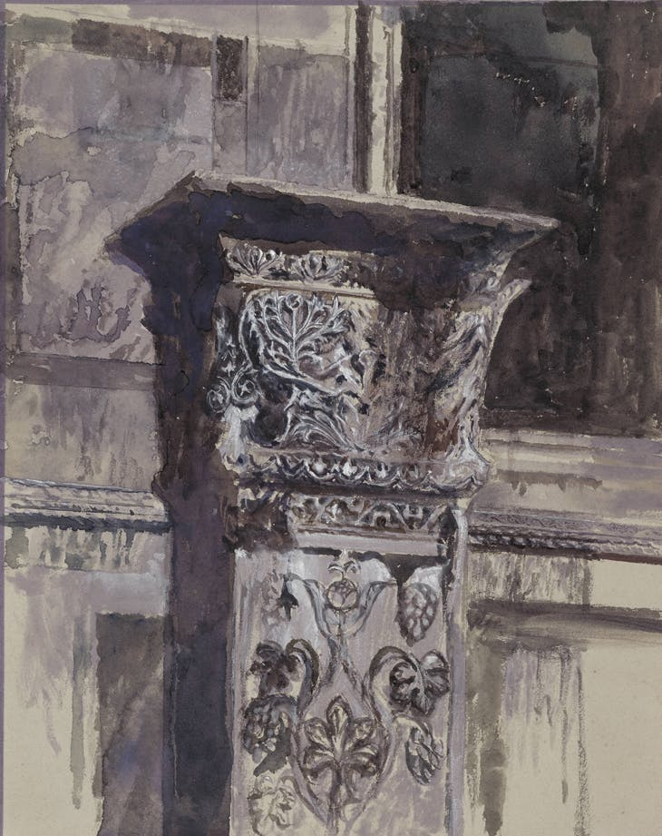 St Jean d'Acre pillar on the southern side of the Basilica di San Marco (1879), John Ruskin. British Museum, London.