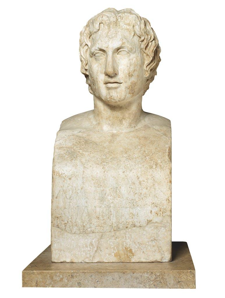 Portrait of Alexander the Great (the 'Azara herm') (1st–2nd century AD), Roman, Musée du Louvre, Paris