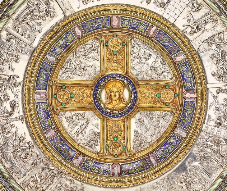 Detail of the Glaubensschild (Shield of Faith), (1842–47), designed by Friedrich August Stüler, Peter von Cornelius and Alexis-Étienne Julienne, Royal Collection Trust, Photo: Royal Collection Trust/© HM Queen Elizabeth II 2018