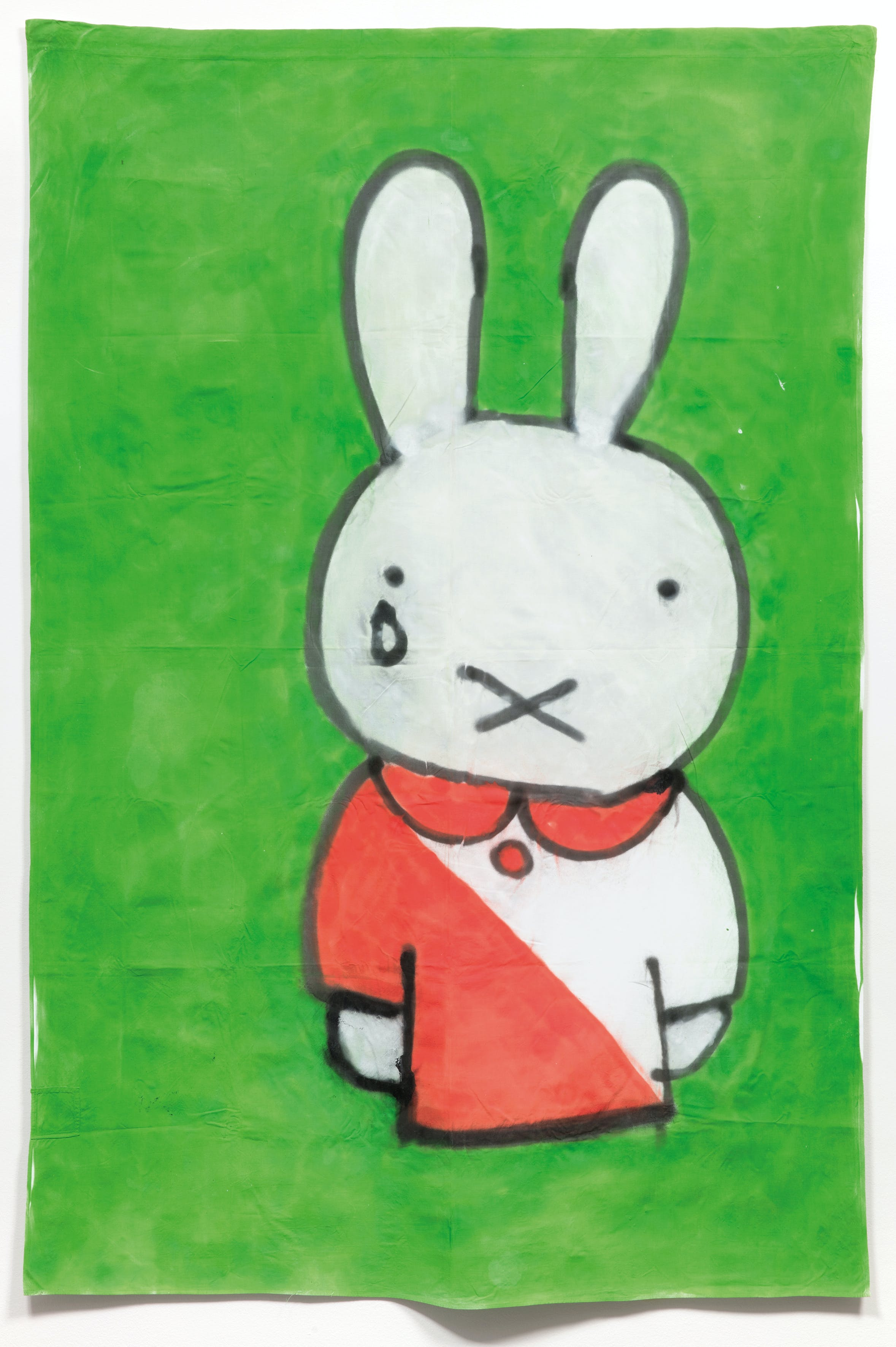 Banner depicting Miffy in FC Utrecht, made by supporters to mark the death of Miffy's creator Dick Bruna (2017), by Justin van den Eijnden, Tycho Oosterndorf and Jeroen Heisen, Centraal Museum, Utrecht, photo: CMU/Ernst Moritz