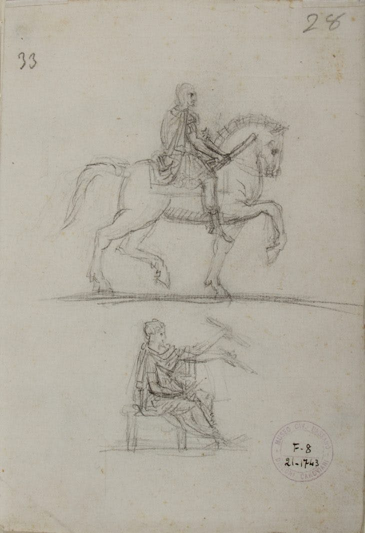 Studies for the Equestrian Monument to Charles III of Naples and for George Washington, Antonio Canova