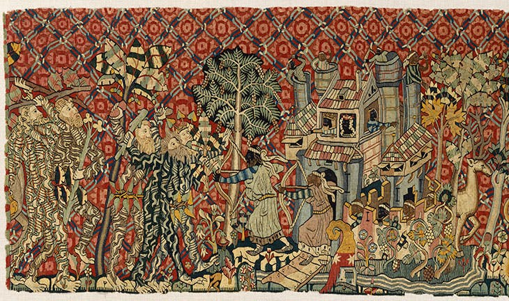 Tapestry with Wild Men and Moors