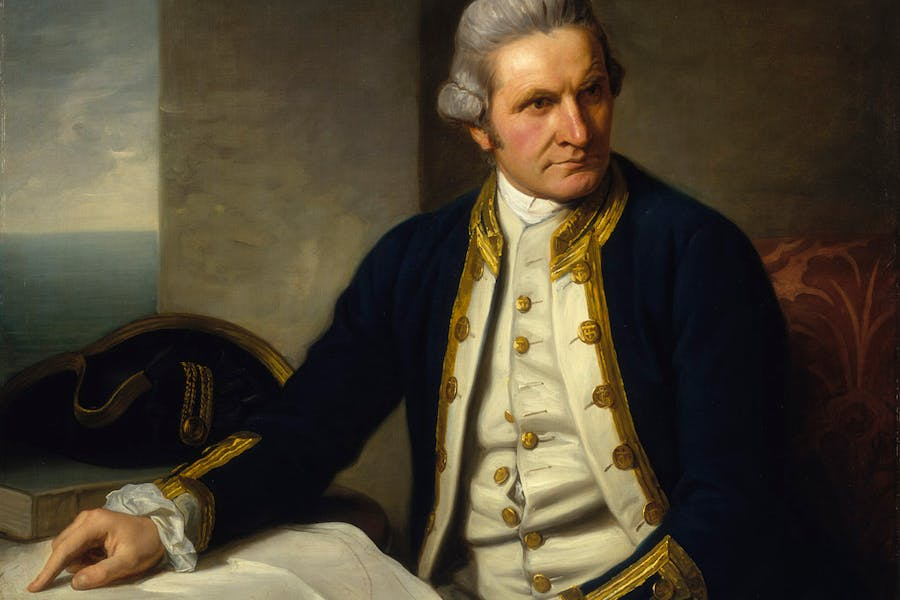 Captain James Cook (detail: 1776), Nathaniel Dance-Holland.