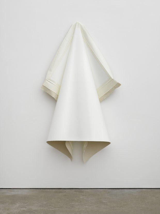 Deflated IV (White), (2009), Angela de la Cruz, Courtesy the artist and Victoria Miro, London/Venice; © Angela de la Cruz