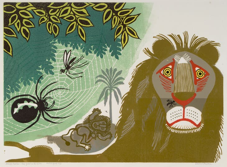 [Aesop's Fables] Gnat and Lion, Edward Bawden