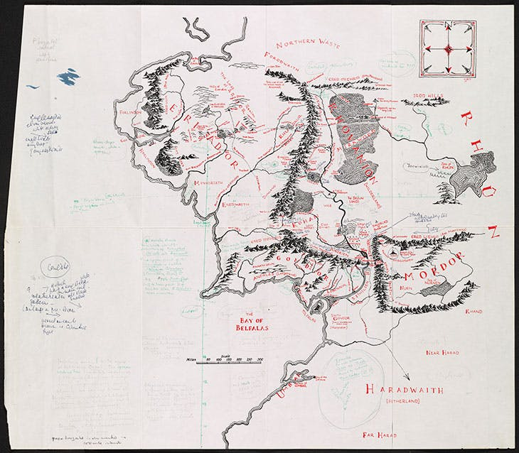 Annotated map of Middle-earth