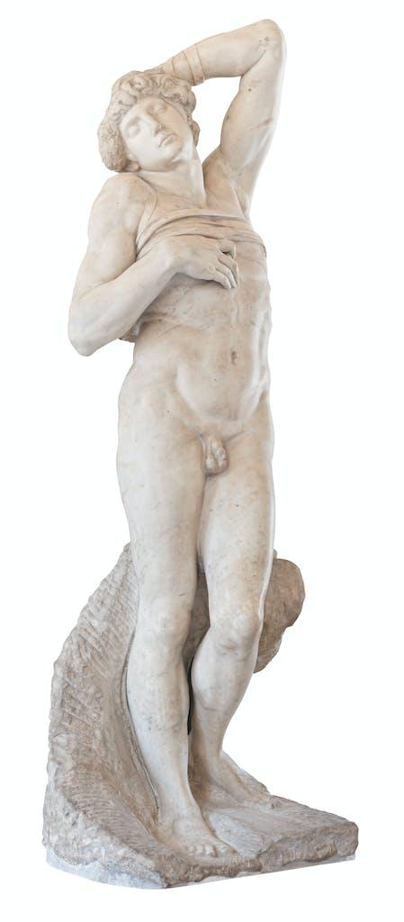 The Dying Slave, (c. 1513–15), Michelangelo Buonarroti, Musée du Louvre, Paris, Photo: vkstudio/Alamy Stock Photo