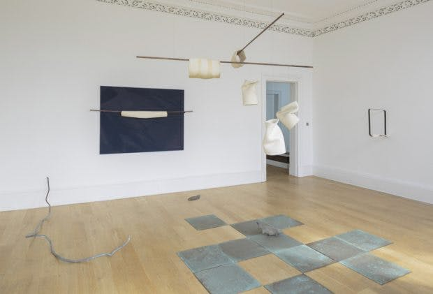Installation view of 'Radio Piombino' by Katinka Bock at The Common Guild, part of Glasgow International 2018. Photo: Ruth Clark