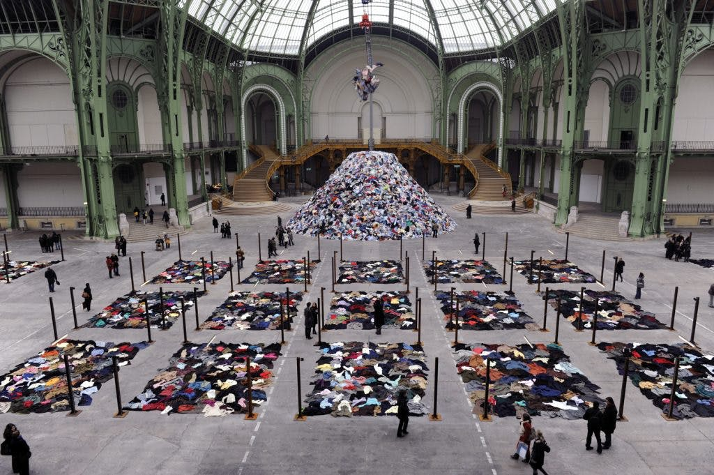 Personnes, (2010), Christian Boltanski, photograph documenting its installation at 'Monumenta' at the Grand Palais, Paris, photo: Didier Plowy; courtesy the artist and Marian Goodman Gallery, New York, Paris & London; © Christian Boltanski