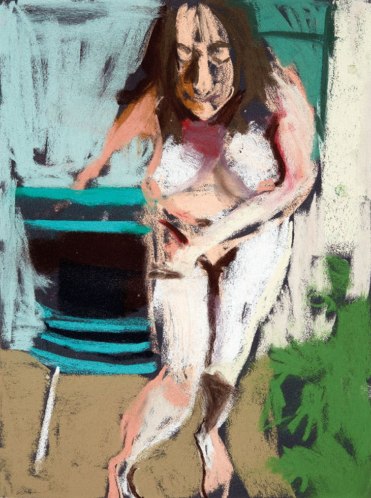 Self-Portrait Naked in the Garden (2016), Chantal Joffe.