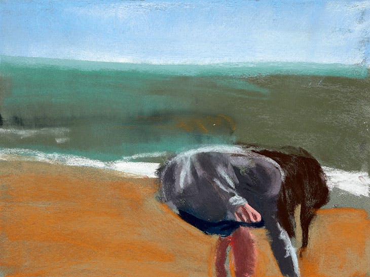 Esme on the Beach (2016), Chantal Joffe.